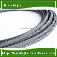 6mm PET/ Nylon Braided Expandable Flexible cable mesh sleeving - Light Grey