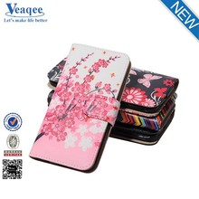 Veaqee mobile phone cover, cell phone custom leather flip case for samsung galaxy e7