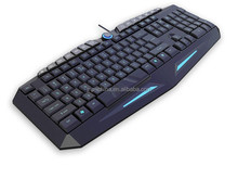 Fancy !!! gaming Keyboard With Single color LED front lighting