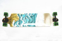"""Free shipping 42"""" prefessional four wheels complete skateboard pin-tail canadian maple longboard"""