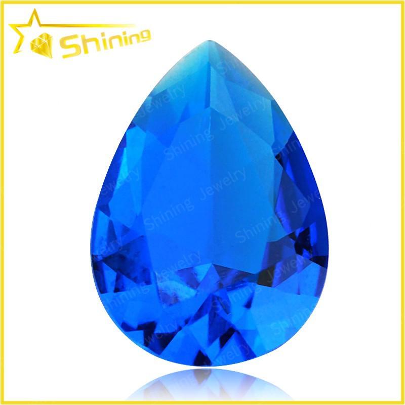 factory supply colorful bulk glass gems sapphire