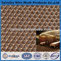 Woven wire drapery/metal wire mesh curtain