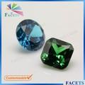 las facetas gemas de colores de piedra proveedor princesa cz corte esmeralda precio por quilate