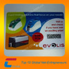 PVC cards with black flat numbering
