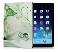 Oil finshing 3D painting PU Leather PC cover/Case For apple iPad mini