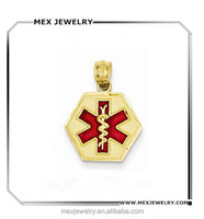 Gold Color Medical Alert Charms Wholesale State of Life Beads Charms