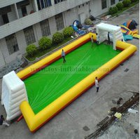 Classic design commercial inflatable water soccer court