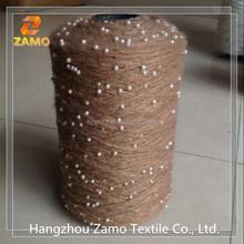 acrylic blended fancy sequin yarn, knitting yarn and Bead yarn