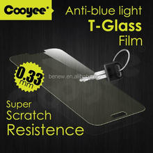 Clear tempered glass anti blue light screen protector for samsung galaxy note 3