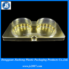 disposable high quality cake blister plastic packaging / cupcake or mooncake packaging tray with lid