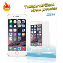 9H hardness color tempered glass screen protector for iphone 6, cell phone screen protector machine for glass screen protector