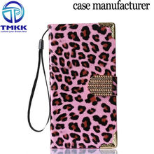For LG G4 PU Leather Cell Phone Flip Case With Electroplating PC G4005