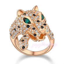 jewelry in china cheap leopard model diamond 18k gold rings