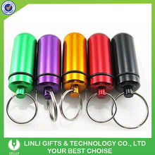 Assorted Colors ID Holder With Keychain Small Pill Holder, Mini Size Pill Holder,