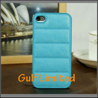 china made hand warmer leather phone case for iphone 4 4S