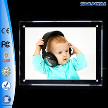 One side slim led light up picture frame