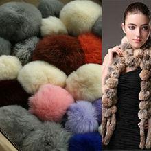 Factory direct supply rabbit skin rabbit fur pompom ball