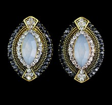 magnetic earrings double pearl fashion design hanging round shaped arete para mujer pendiente colgante