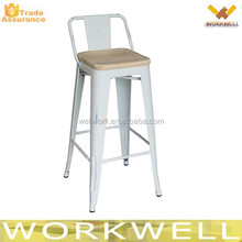 WorkWell industrial metal chair with wooden cushion Kw-St12