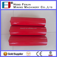 red 89 tube conveyor roller, conveyor belt guide roller, idler roller welding machine