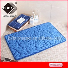 100% Polyester Plain color Anti Slip Flannel Memory Decorative Soft Foam Door Mats