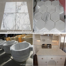 calacatta marble white and calacatta gold mosaic