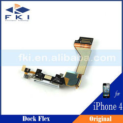 Repair parts cellphone dock flex for iphone 4g, for iphone 4 charging dock flex cable