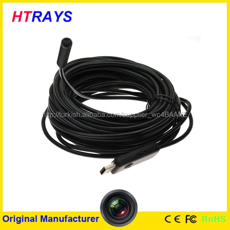 sıcak satış 9mm mini kısırlaştırmak kamera dijital esnek 7m sualtı drenaj boru endoskop kamera