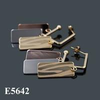 2015 Fashion colorful dangle earrings for woman