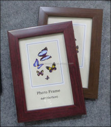 Popular wood finish photo frame wholesale PS simple design picture frame