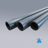 China underground HDPE gas pipe / black HDPE pipeline system