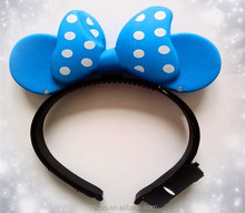 Cheap wholesale Cute Mikey ears Led toy hair band,hair accessories flash Led Bands,party led hair bands for girls