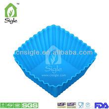 silicone square shape mini cake cup