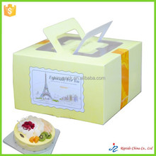 pvc window butterfly cardboard carried cake boxes