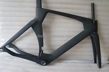Carbon track frame tt bike with aero bars black matt tt bike frame