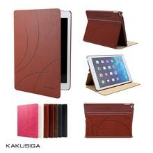 Kaku high quality eleghant design flip leather slim case for samsung galaxy tab 4