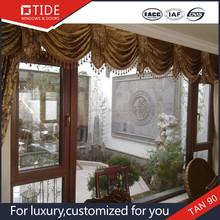 Teak wooden doors and windows,horizontal opening aluminum clad wood window interior
