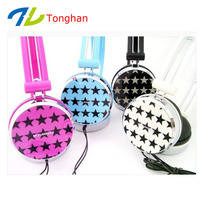cheap price overhead OEM wired little star imprint headsets for Christmas promotional