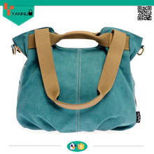 large capacity pure cotton thinken leisure fashion canvas bag with comfortable shoulder straps