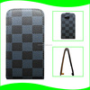 New Arrival Up to Down Top Open Vertical Flip Retro Style Grid Grain PU Leather Cell Phone Case for HTC Desire 200