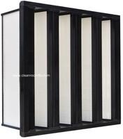 compressed V Cell Secondary air filter for hvac