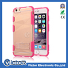 TPU +PC Clear Kickstand Combo Case For iPhone 6
