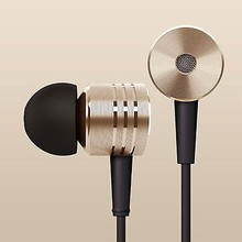 New Design Gold Piston In-ear Headest Headphone Earphone With Mic For Cell Phone