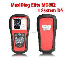 100% Original AUTEL MaxiDiag Elite MD802 4 system + DS model MD 802 PRO (MD701+MD702+MD703+MD704) auto code reader