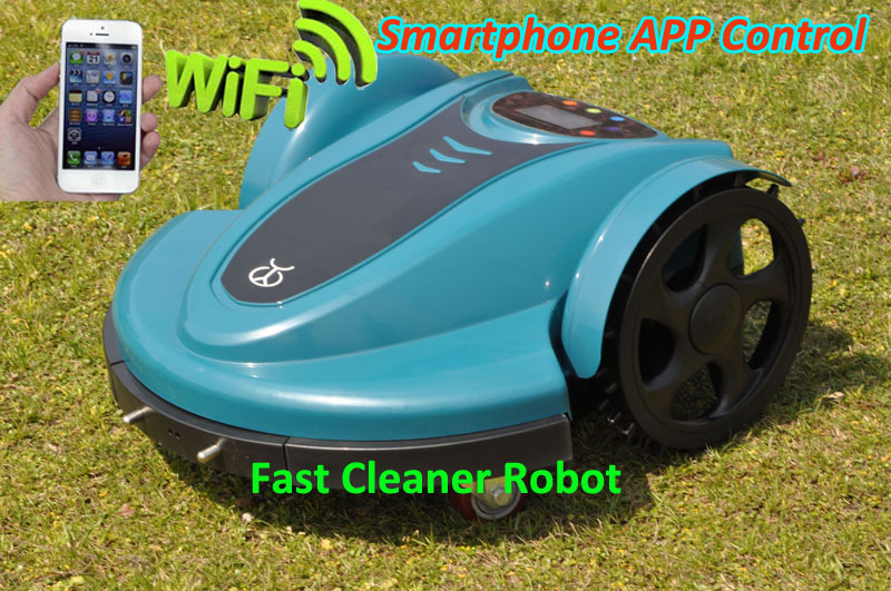 Newest Cheapest lithium battery Robot Lawn Mower 158N Updated SmartPhone APP Wifi Control,Water-Proofed Charger