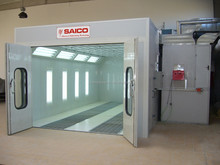 water based spray booth room