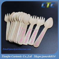 105 OR 110MM Long Mini Fork And Spoon With Customized Logo