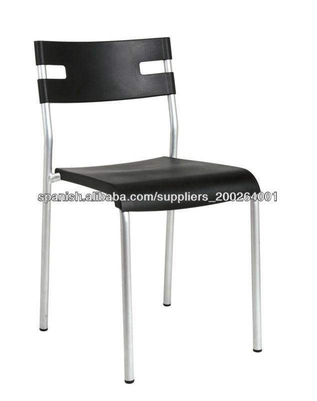 Pl sticas sillas apilables con patas met licas cromadas for Sillas plasticas comedor