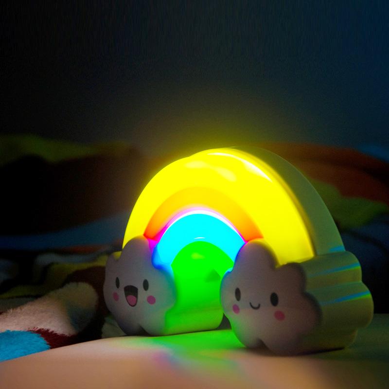 Sound Touch Sensor Rainbow Led Night Light Lamp For Baby