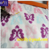 butterfly printed polar fleece for south America